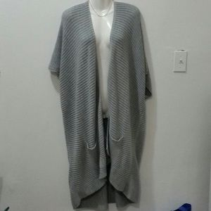 Pretty Little Things Grey Knit Duster Cardigan